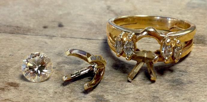 Broken Wedding Ring In Need Of Repair