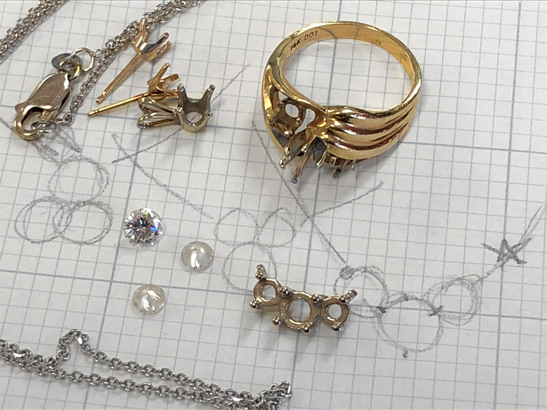bits & pieces of jewelry - the ring could not be repaired