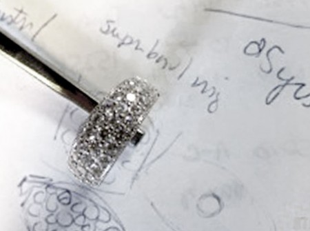 Cluster ring shown on design documents