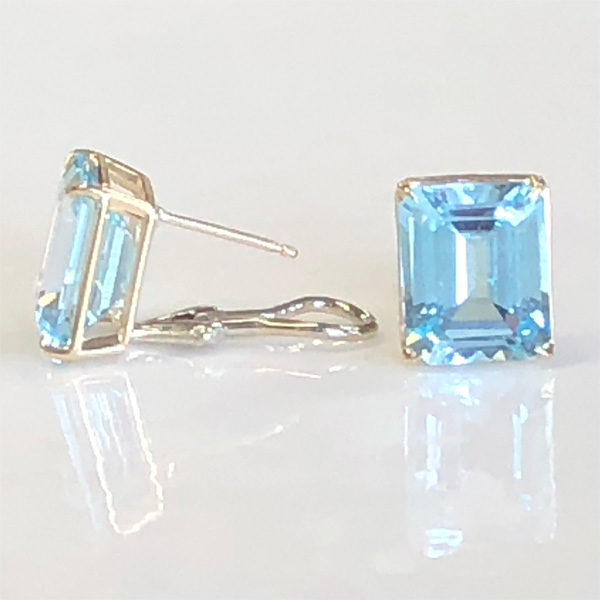blue topaz earrings to wear with her pendant