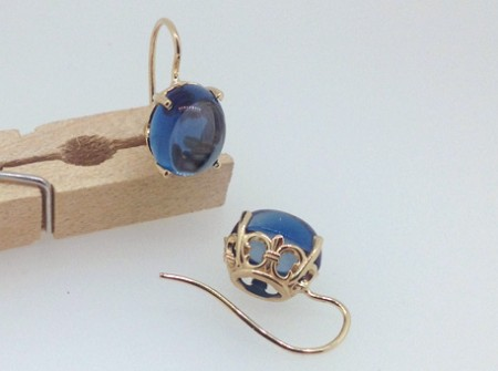 jelly bean blue earrings are london blue topaz