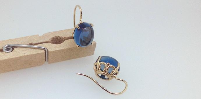 jelly bean blue earrings are london blue topaz