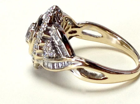 cracked diamond wedding band after repaired seamlessly