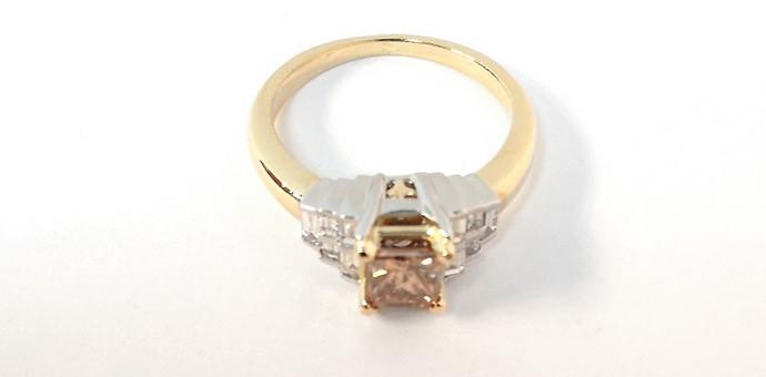 champagne diamond anniversary ring