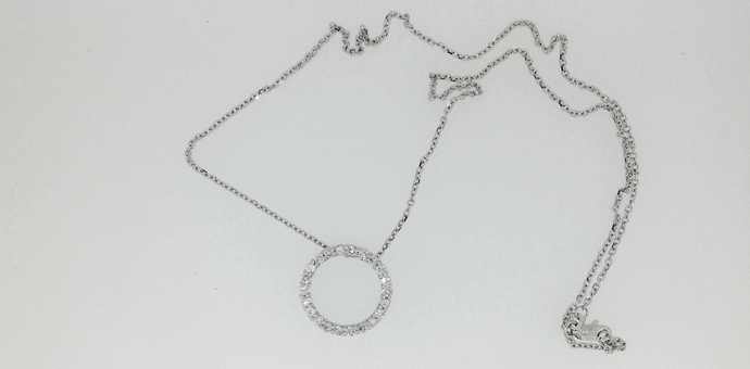 circle necklace from grandma