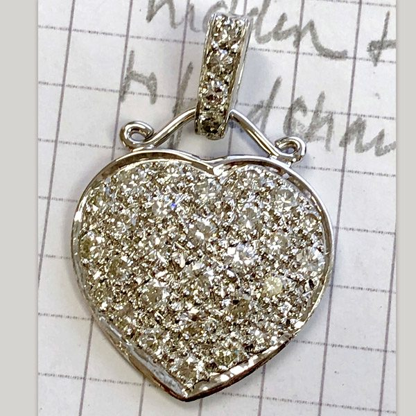 diamond heart pendant is repurposed earring