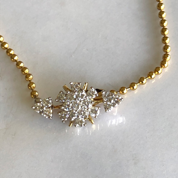Diamond pendant necklace made from snowflake pin