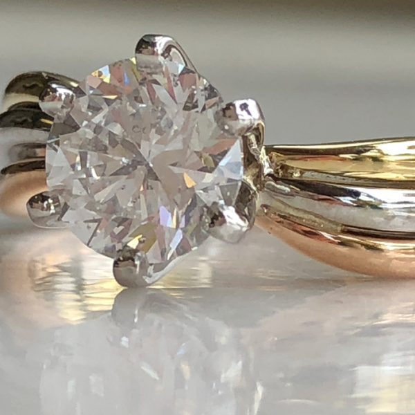 finished ring with replaced diamond (after)