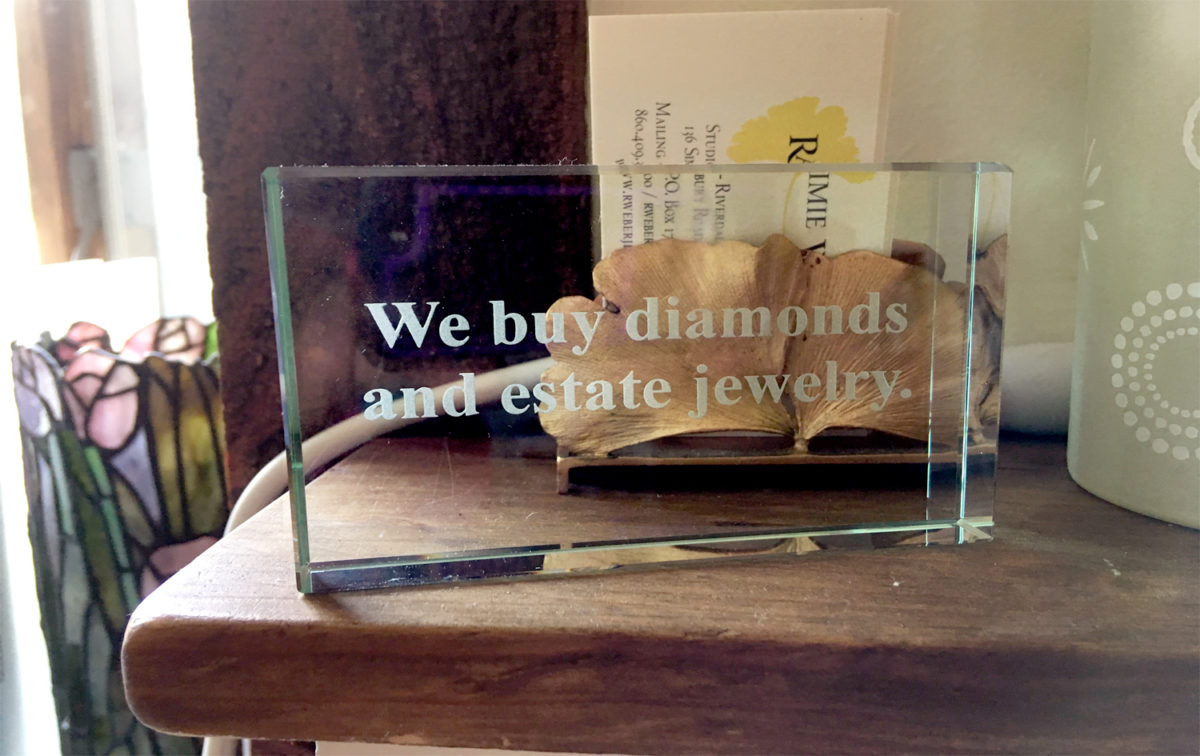 We buy diamonds and estate jewelry
