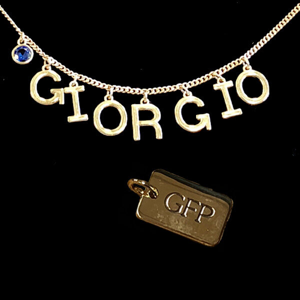 family name initial monogram necklaces