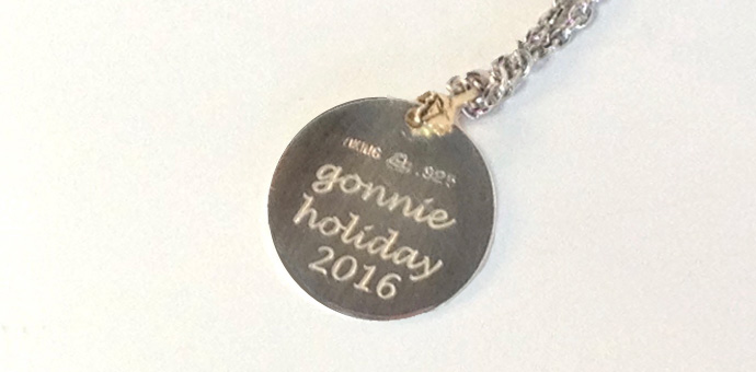 sterling silver pendant necklace inscripted for 2016 holiday