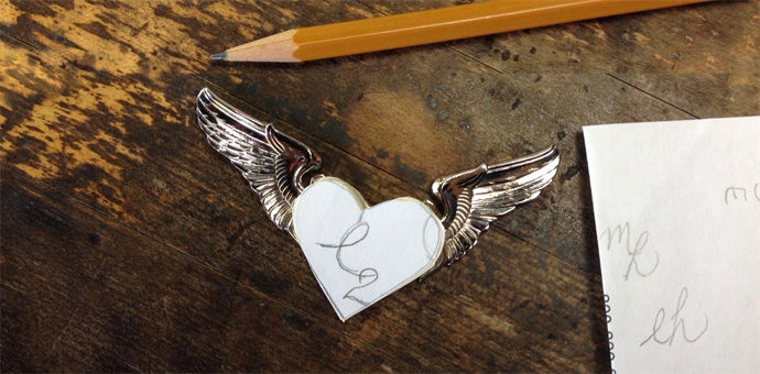 during the design process, the airforce squadron wings under drawing of engraving