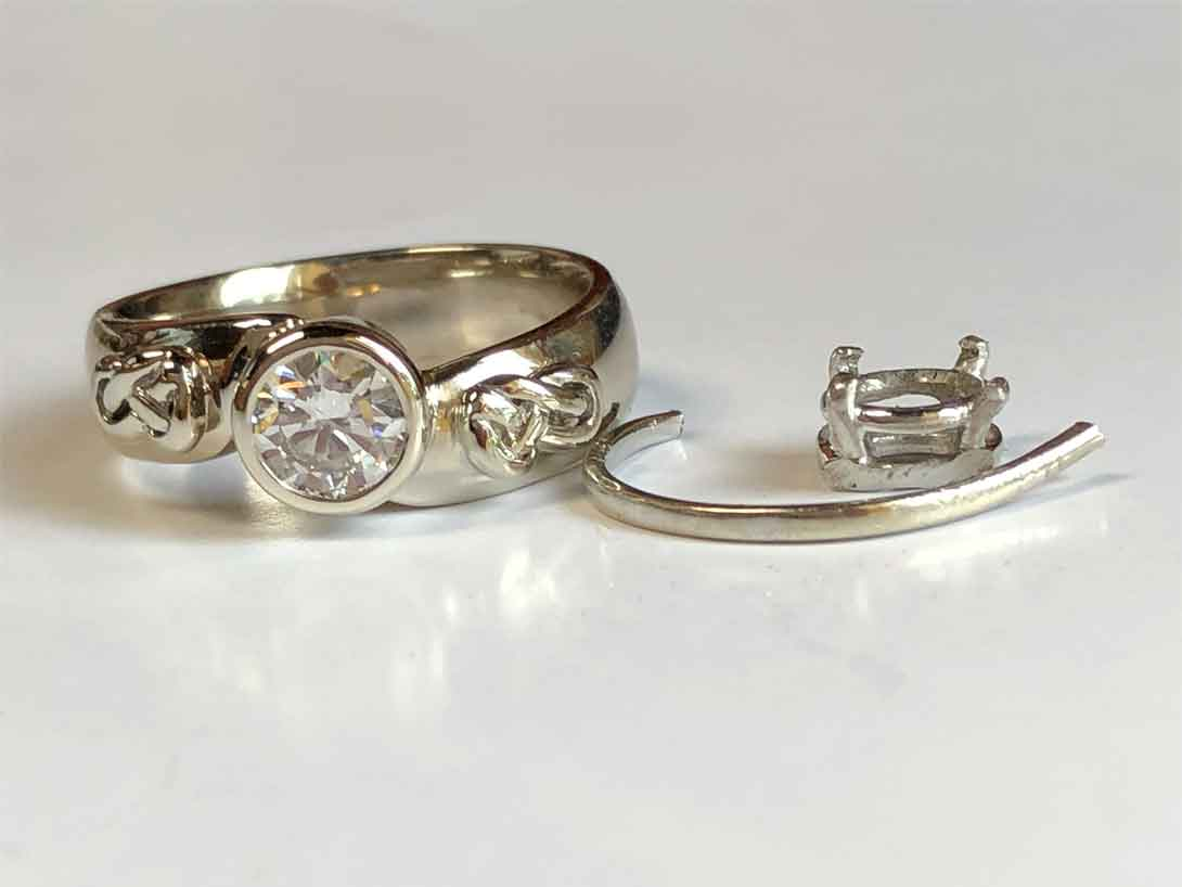 Hers His Wedding Rings Combined And Redesigned R H Weber Jewelry