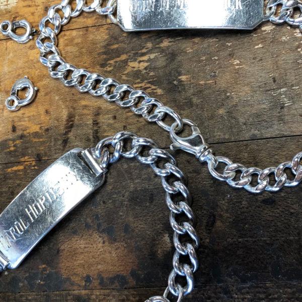 old school id bracelets