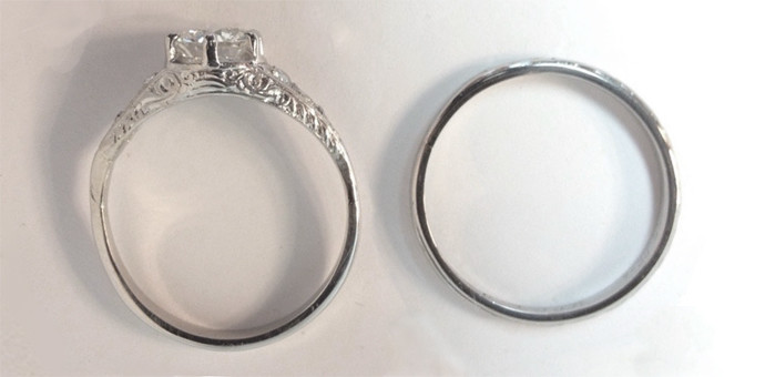 improved family wedding rings - side view
