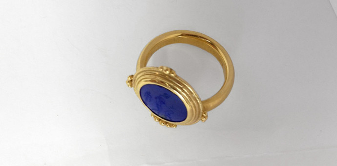 back view of the high karat gold ring