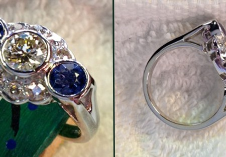 simple change of a platinum antique ring made it the owner