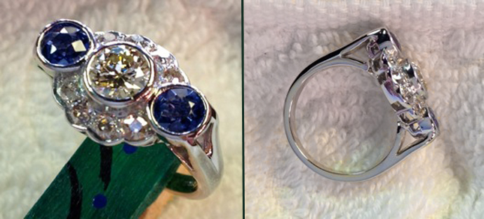 simple change of a platinum antique ring made it the owner's favorite