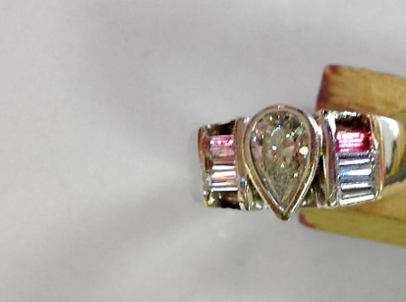 Beofre picture - Diamond wedding ring missing side baguettes