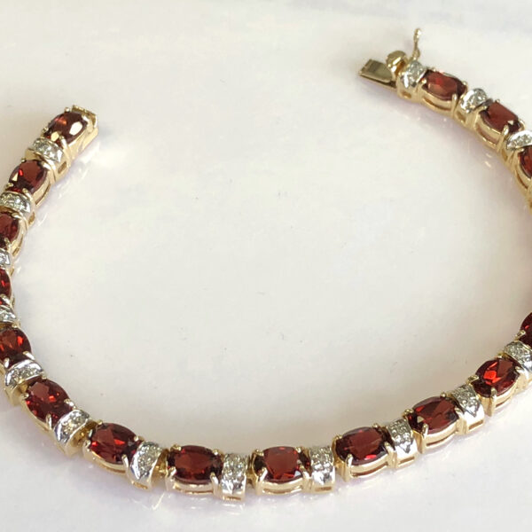 The garnet diamond bracelet she remembers nana wearing