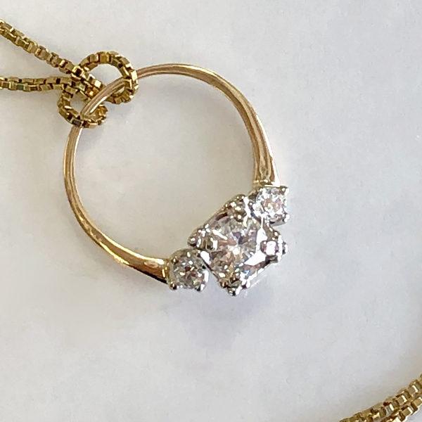 nana's ring made into a pendant