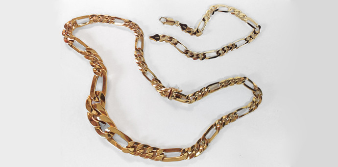 before: necklace and bracelet links used to make longer