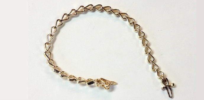 14k gold bracelet was made from necklace