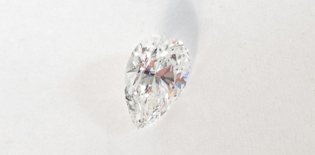 pear-shaped brilliant cut diamond 1.17 carat for engagement ring