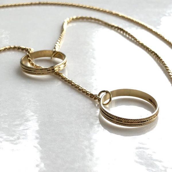 promise rings pendant, two meaningful rings to wear close to the heart