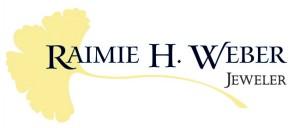 raimie weber jewelry logo is a ginkgo leaf