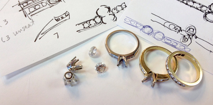 before - the parts for the new ring