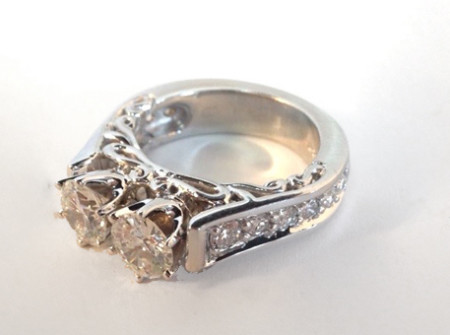 Little change for big impact custom design jewelry avon ct for Redesign wedding ring
