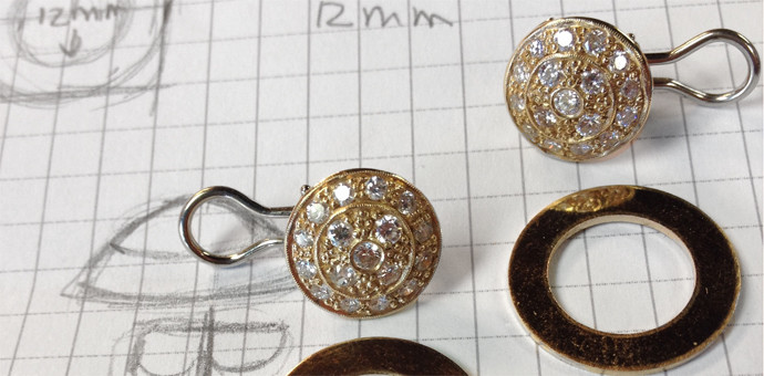 pave earrings parts and plan before change