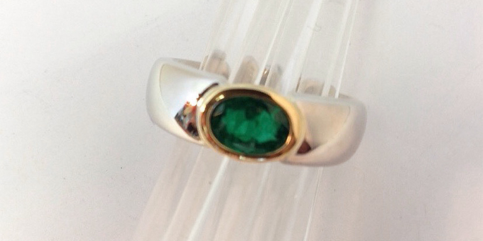 Emerald ring from repurposed wedding ring (final)