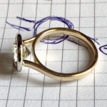 engagement ring redesigned from Nana Rose's wedding set