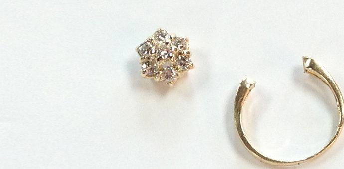 decsontructed diamond cluster ring ready for repurposing