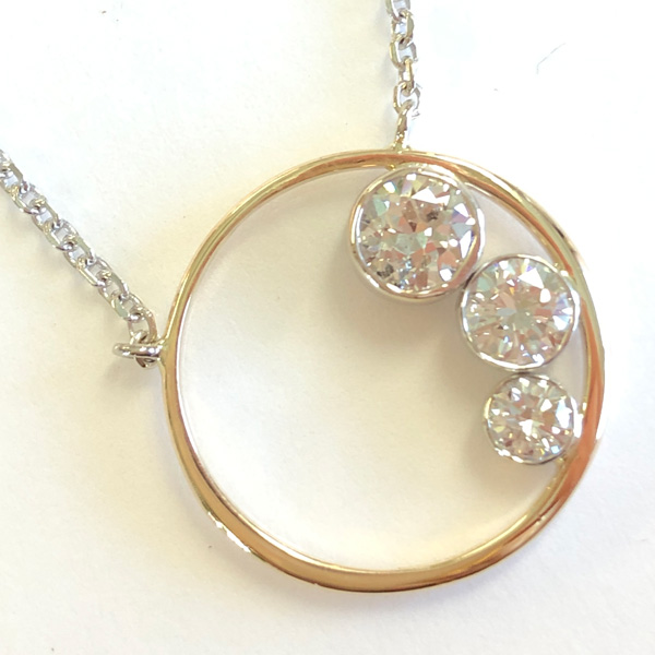 final pendant made from family rings