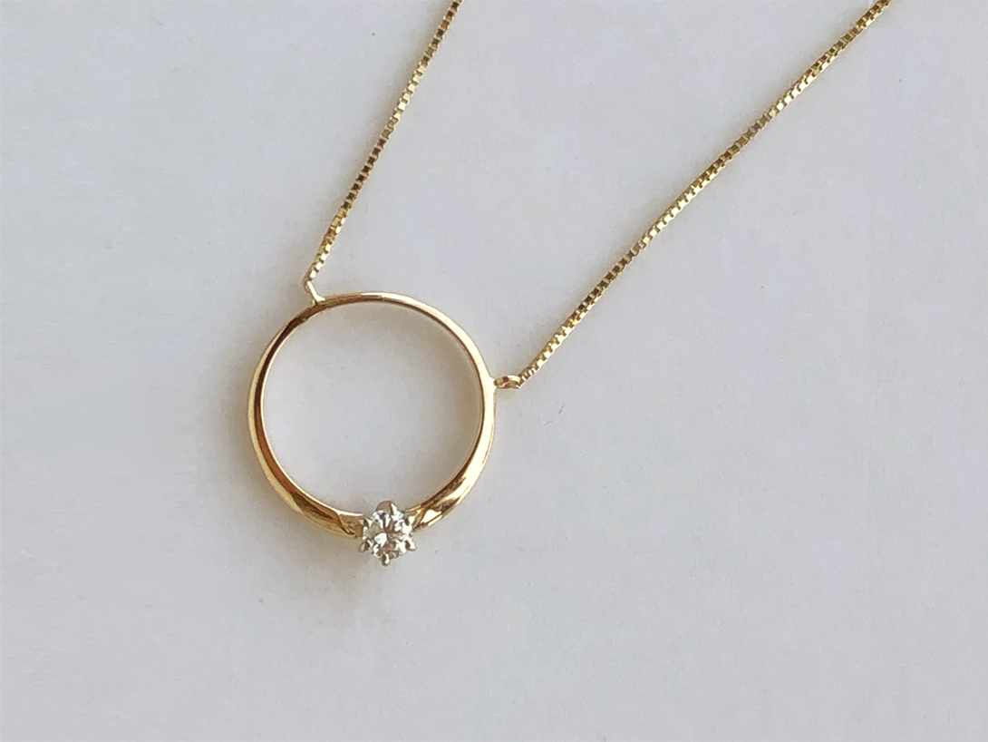 engagement ring redesigned into a pendant