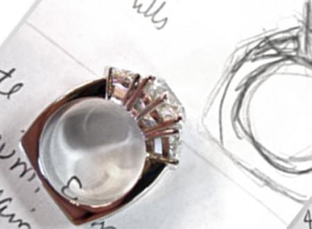 diamond ring circle in square