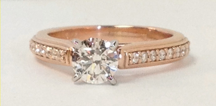rose gold engagement ring with solitaire diamond from Canada