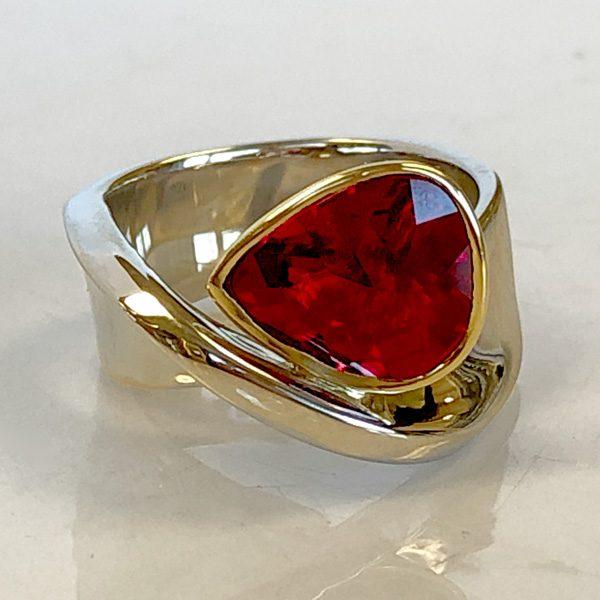 mobius ruby ring