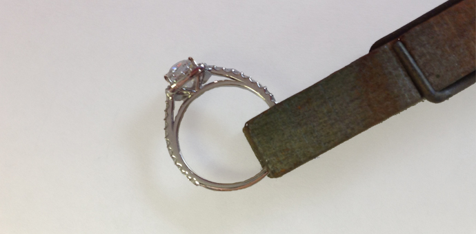 Diamond Engagement Ring side view