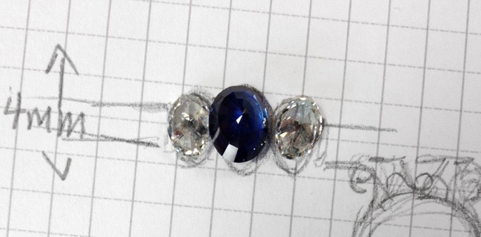 plan for matching diamonds for a ring