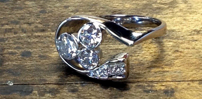 finished ring incorporated ideas from the engaged couple