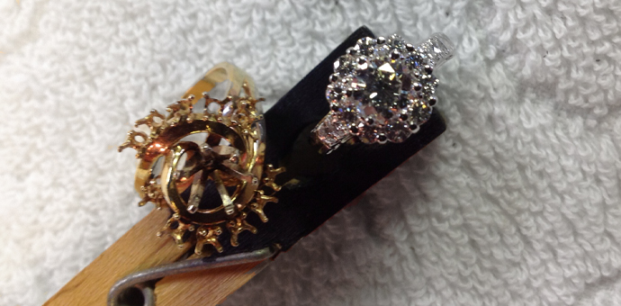 This ring was updated by Raimie Weber Jewelry