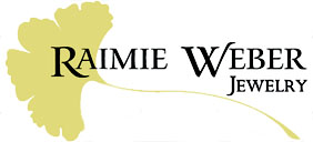 raimie weber jewelry logo is a ginkgo leaf